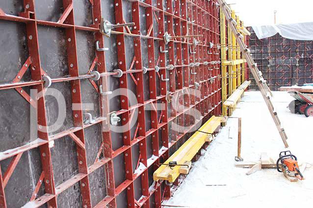 мелкощитовая опалубка стен