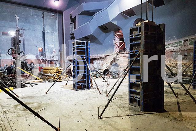 опалубка колонн и перекрытий, Москва Театр «Современник».