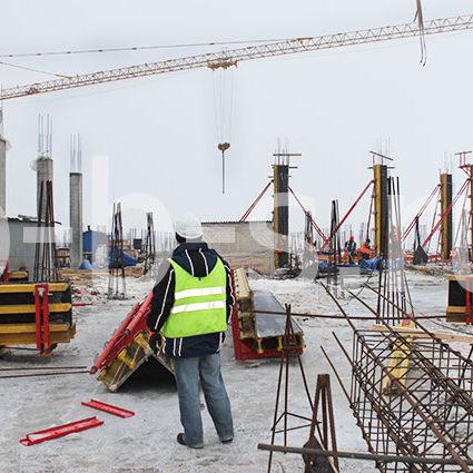 балочно-ригельная опалубка колонн, завод Рошен